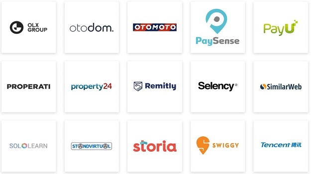Some of the Prosus companies.