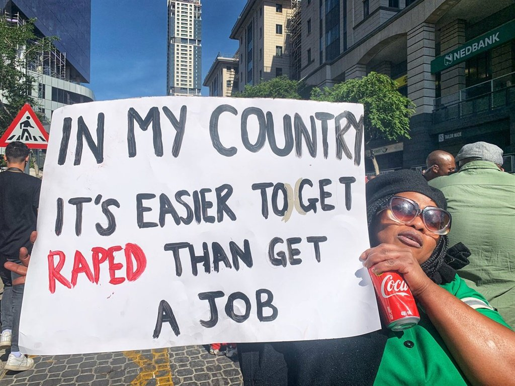 SA is in a crisis when it comes to rape, gender-based violence and femicide. Protesters took to Sandton last week to voice their frustration at the JSE, which they say needs to help fight the battle. (Sthembiso Lebuso, City Press)