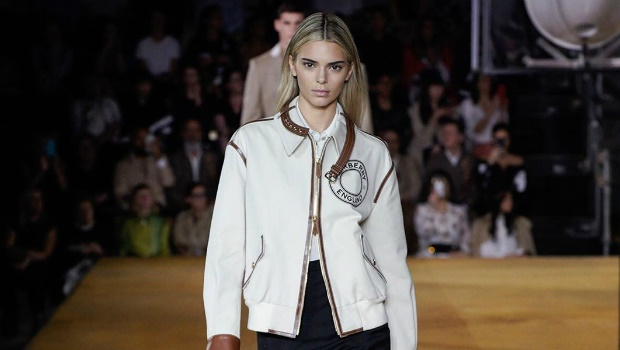 Kendall Jenner captured on the Burberry Spring/Sum