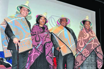 The University of the Free State hosted the fifth King Moshoeshoe Memorial Lecture at the Bloemfontein campus on Tuesday, 10 September. Some of the dignitaries who attended are from the left Prof. Francis Petersen (UFS Rector and Vice-Chancellor), Prof. Puleng LenkaBula (Vice-Rector: Institutional Change, Student Affairs and Community Engagement), Thembeni Nxangisa (MEC for Cooperative Governance and Traditional Affairs) and Dr Edith Phaswana (Acting Head of the Thabo Mbeki African Leadership Institute) who delivered the lecture. Photo: Supplied