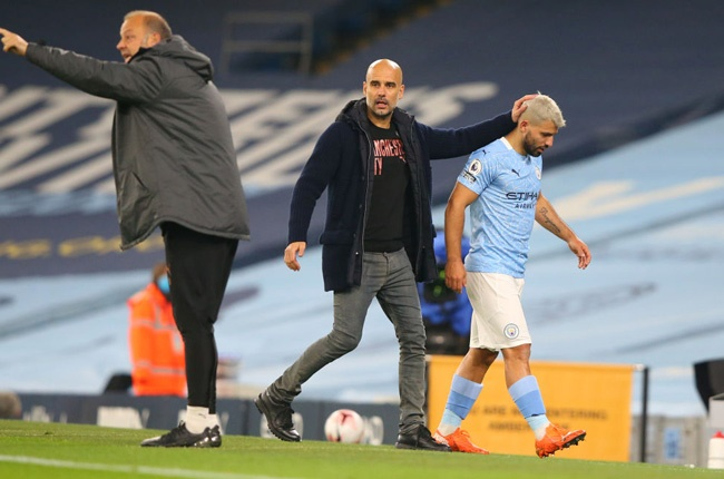 Pep Guardiola and Sergio Aguero (Getty Images)
