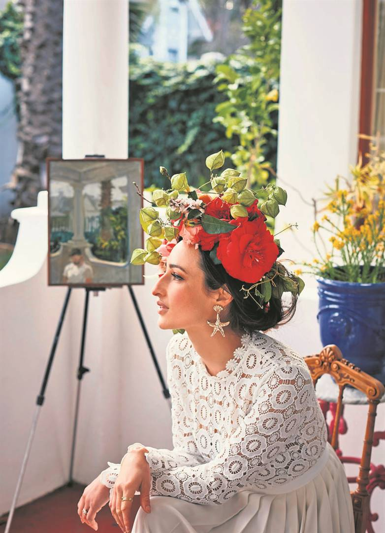 Artist Alice Angela Toich from Mowbray was one of the flower crown ambassadors for the official Garden Day movement this year.