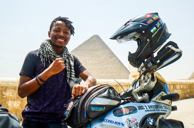 After embarking on a successful bike tour from Cape to Cairo, Reggie Khumalo will be touring Europe selling his art and donating funds to the less fortunate.
