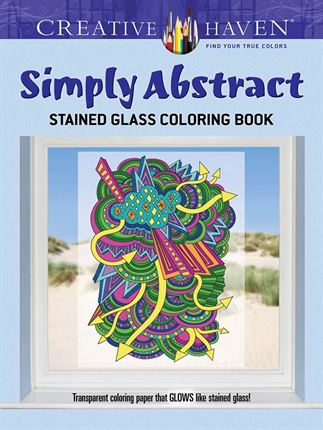 Creative Haven Simply Abstract Stained Glass Colouring Book