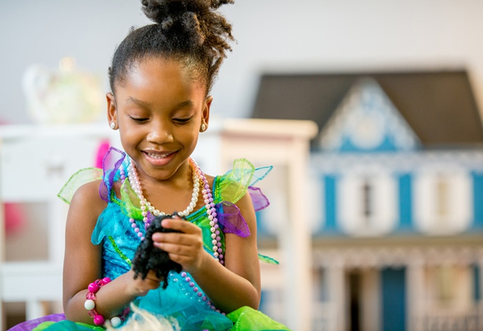 """""""Any humanoid toy, figurine or doll provide opportunities for children to safely explore social issues"""". (FatCamera/Getty Images)"""