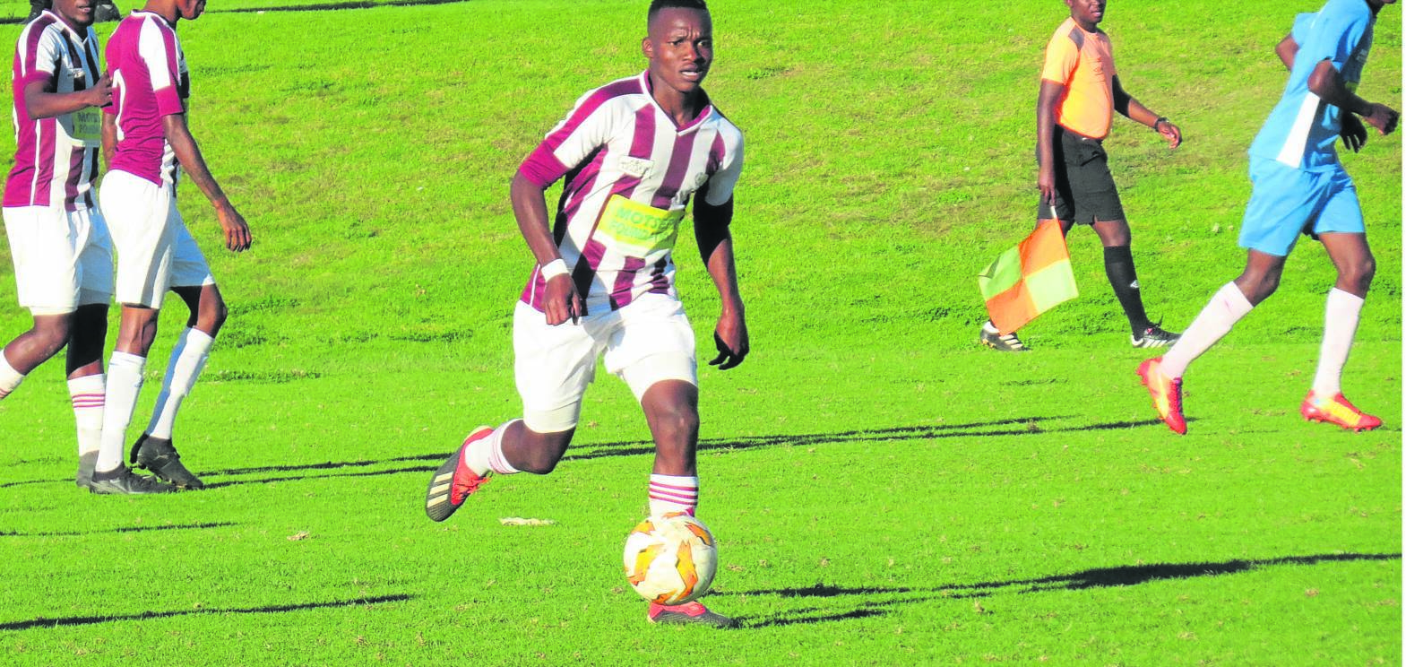 Alfred Moshoeu, midfield vice-captain of Mangaung Unite, will lead his team in the promotion play-offs. Photo: Teboho Setena