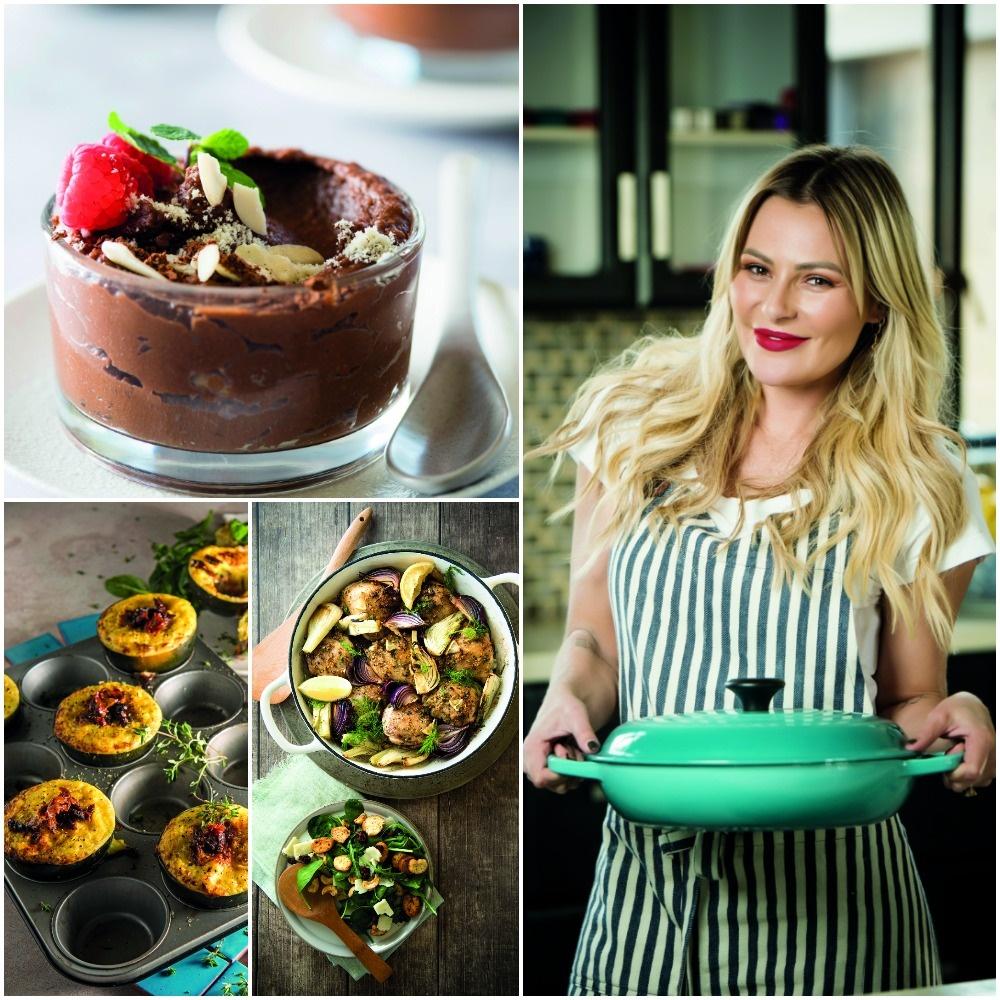 Karlien van Jaarsveld spog met haar nuwe kookboek.