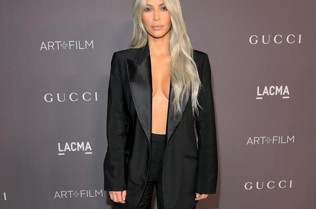Kim Kardashian oversized blazer