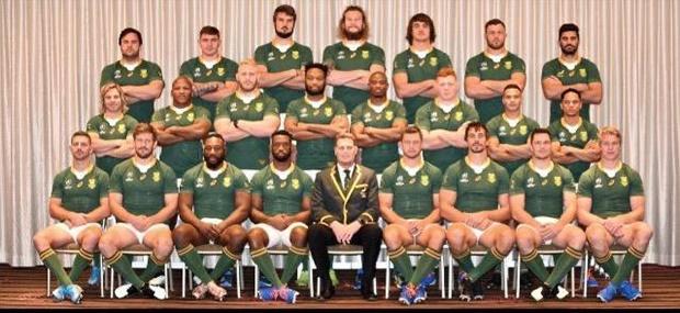 Springbok team (Steve Haag Sports Hollywoodbets)