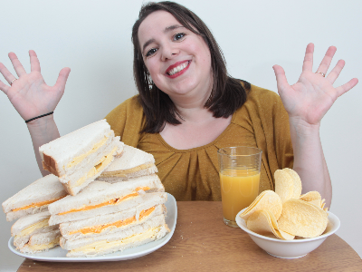 """April Griffiths with a """"fear of food"""" has revealed she's lived off a diet of cheese sandwiches for almost 30 years (Photo: ASIA WIRE/MAGAZINEFEATURES.CO.ZA)"""