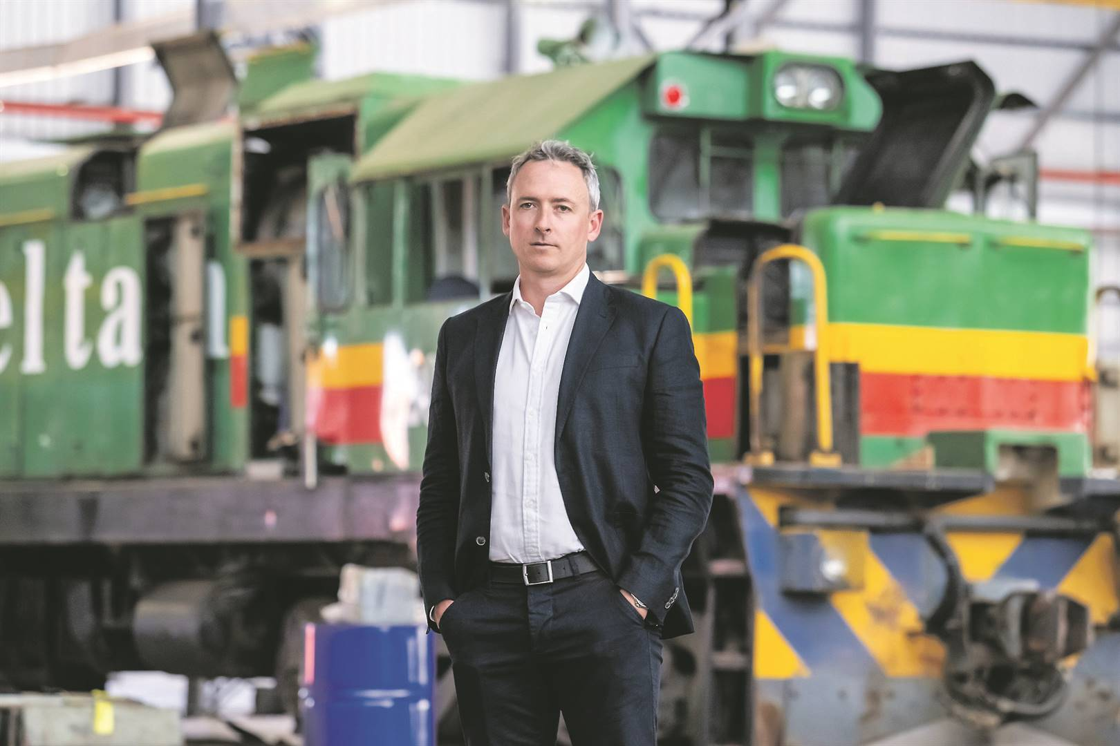 CEO of Traxtion, Africa's largest private rail operator, James Holley.