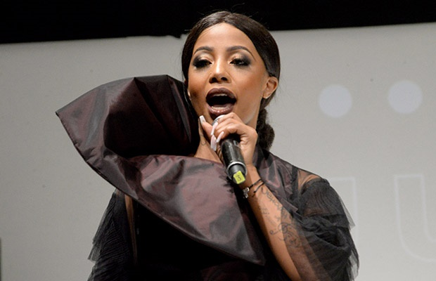 South African singer Kelly Khumalo.