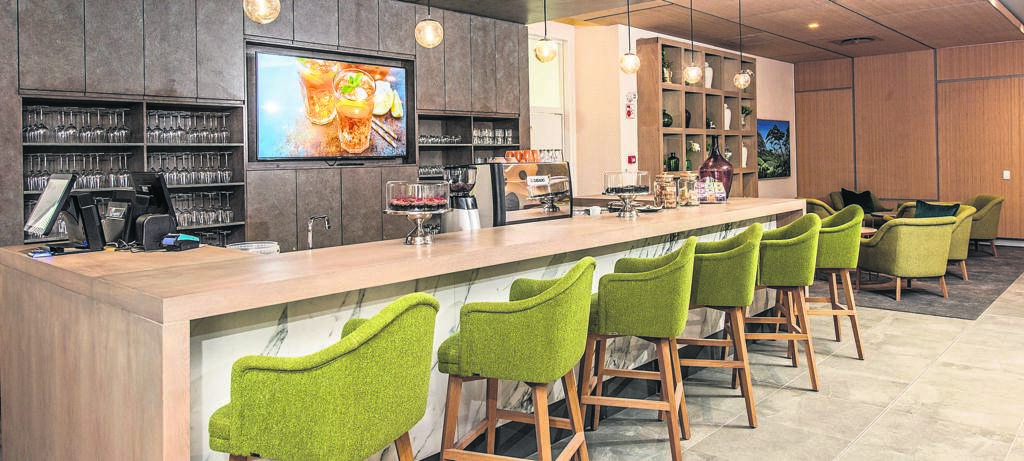 The coffee bar at one of the upmarket amenities at Quadrant Gardens, a lifestyle retirement development.
