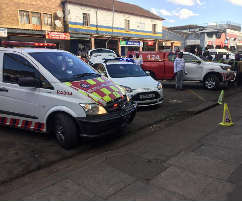 PHOTO: suppliedParamedics at the scene of the shooting.