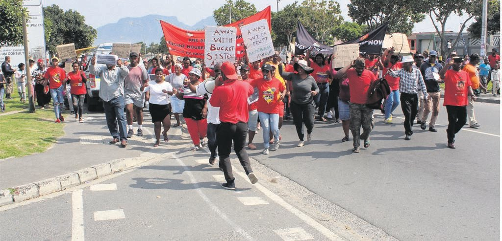 Service delivery was the common cause for protesting communities in Gugulethu.PHOTO: SIYABONGA KALIPA