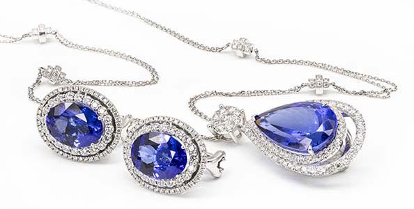 Tanzanite necklace.