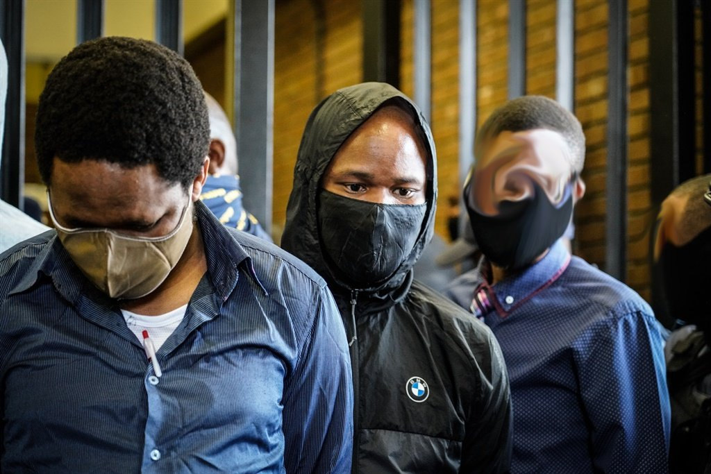 The accused in the Senzo Meyiwa case in court.