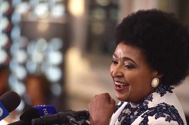 Winnie Madikizela Mandela at her 80th birthday celebrations.