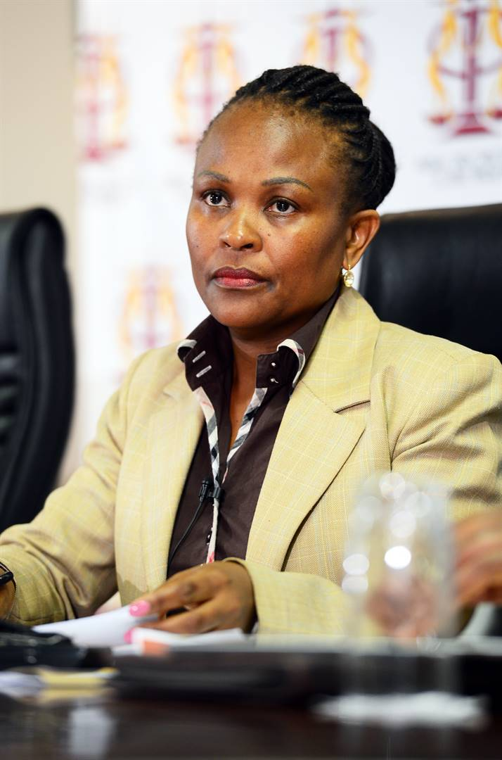 Public Protector, Busisiwe Mkhwebane addressed the a media conference for the first time since she took office last Saturday. Picture :Leon Sadiki/City Press