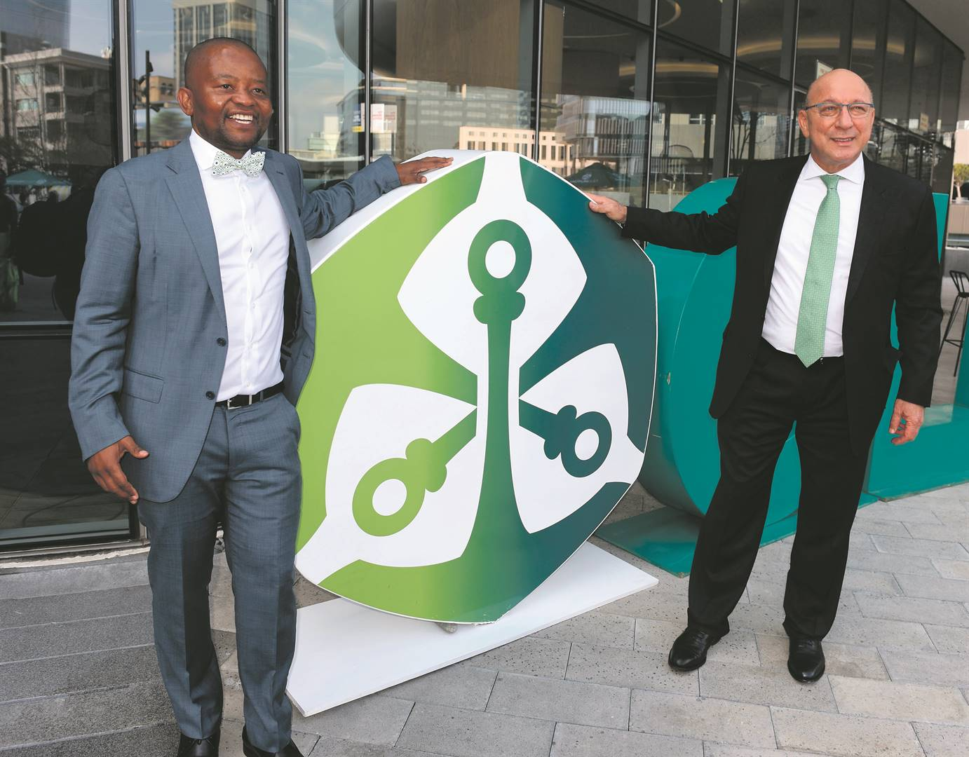 In this photo taken in June last year, Old Mutual Holdings chief executive officer Peter Moyo and Old Mutual chairperson Trevor Manuel were still on good terms            Picture: Freddy Mavunda / Financial Mail