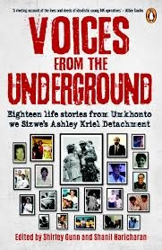 Voices from the Underground, edited by Shirley Gunn and  Shanil Haricharan and published by Penguin Random House.