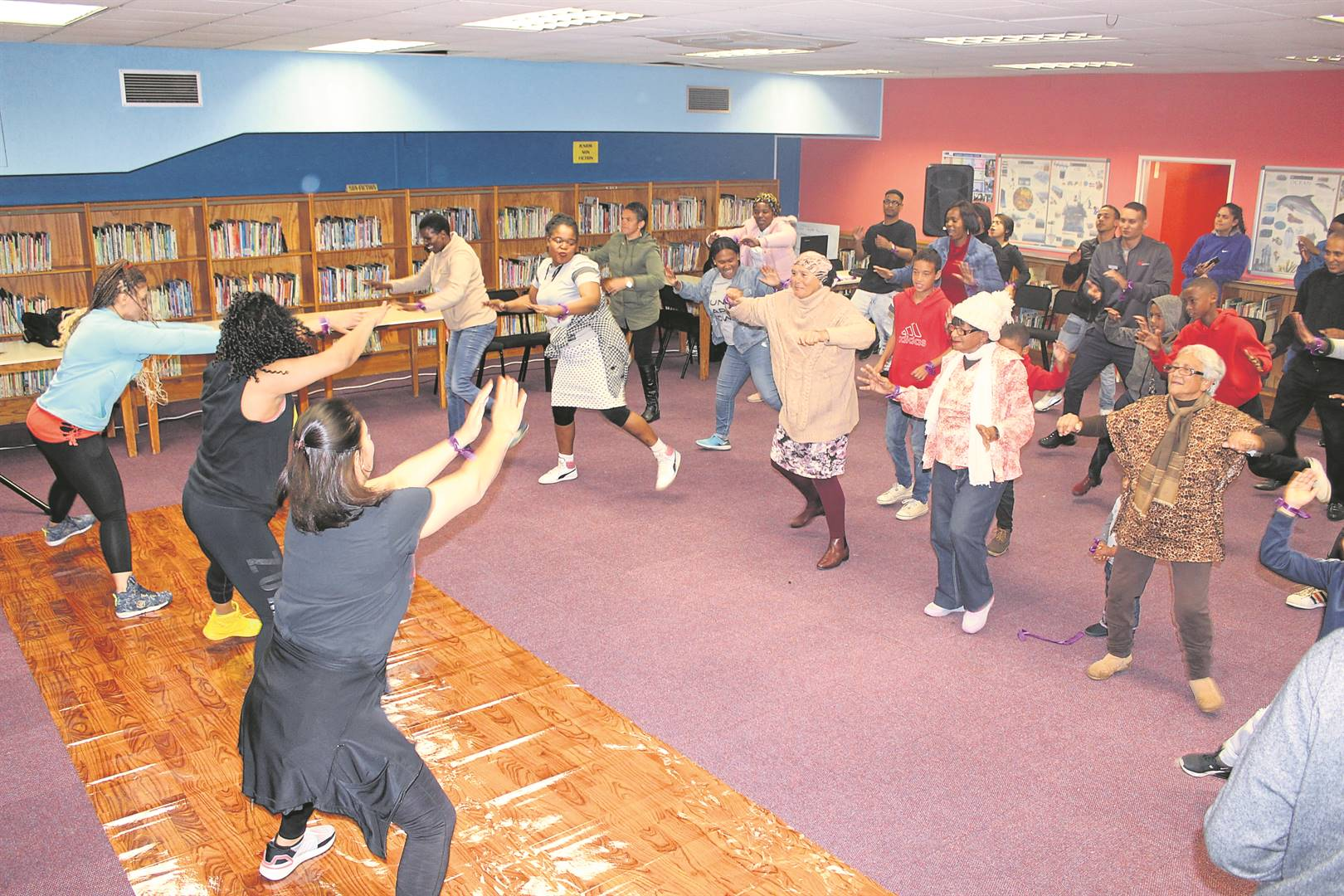 Cheer and fun as attendees take part in Zumba PHOTO: siphesihle notwabaza