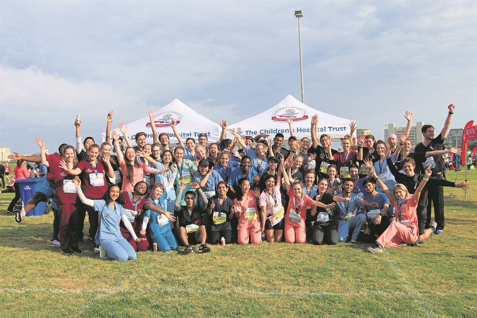 Members of the University of Cape Town Surgical Society and Western Cape Minister of Health Nomafrench Mbombo participated in UCT's Scrub Run on Sunday 15 September.  PHOTO: The Children's Hospital Trust