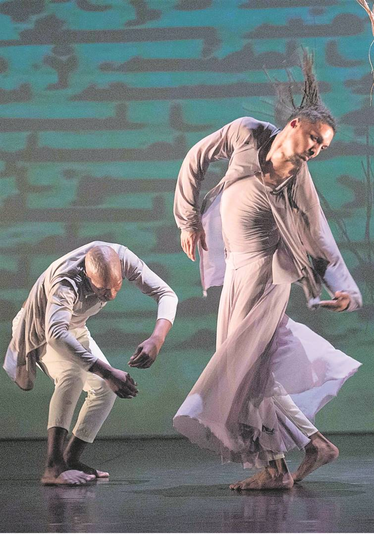 Sifiso Khumalo and Yaseen Manuel in Maktub. The production forms part of the Baxter Dance Festival's main programme.PHOTO: Val Adamson