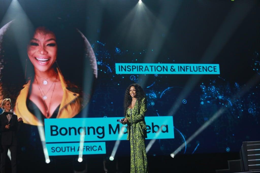 Barbados-born singer Rihanna poses before the Chri