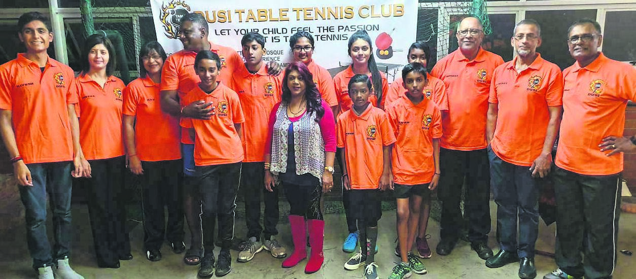 Dusi Table Tennis Club celebrating seven of their players who represented the club at the South African National Junior and Senior Championships.PHOTO: SUPPLIED