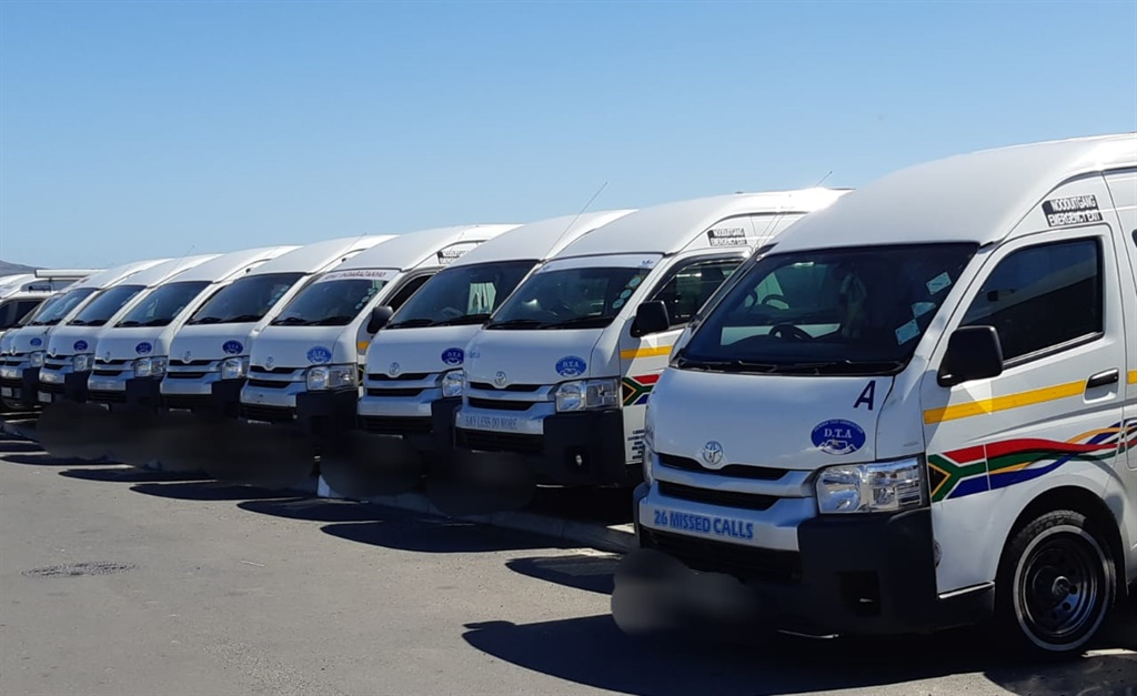 Dunoon Taxi Association taxis at a standstill (Jenni Evans, News24)