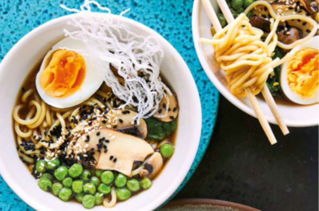 The tasty stock makes these noodle bowls delicious and nutritious.