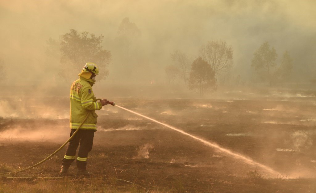 "A state of emergency was declared on November 11 and residents in the Sydney area were warned of ""catastrophic"" fire danger as Australia. (PETER PARKS / AFP)"