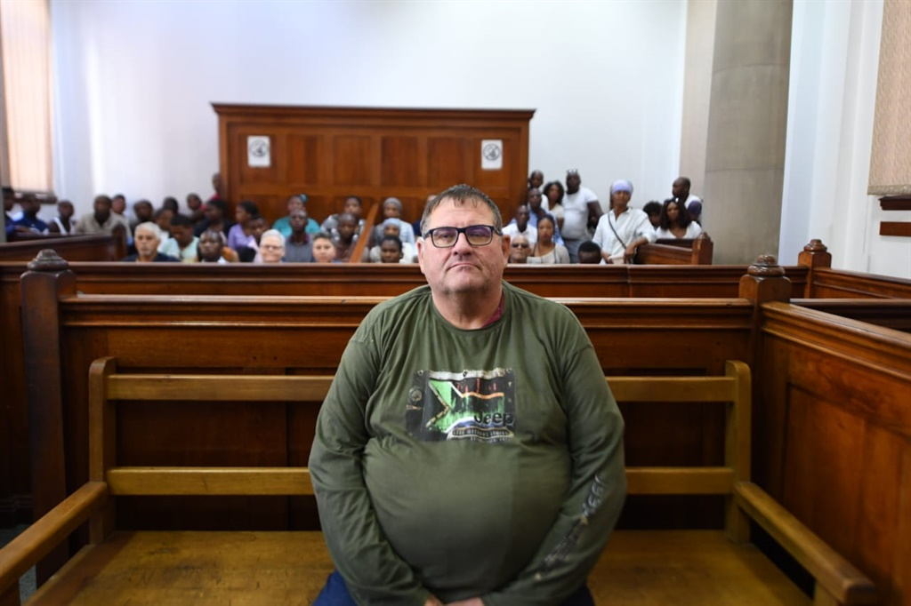 Alleged sex offender Willem Breytenbach during his first appearance in the Cape Town Magistrate's Court. (Jaco Marais, Netwerk24)