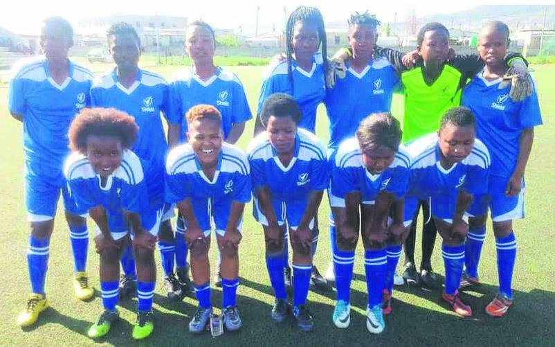 A local women's team received a donation from the councillor of Ward 85, Simthembile Mfecane. Mfecane says he was approached by a group of young men in the area to help the women's team in whatever way he can. The councillor sought sponsorship and was able to help the women's team with the kit and three soccer balls. Here the team members show off their new kit.