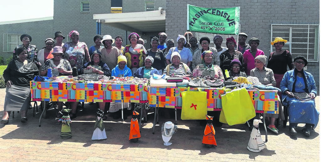 Some of the members of Masincediswe Senior Club display their handwork. PHOTO: UNATHI OBOSE