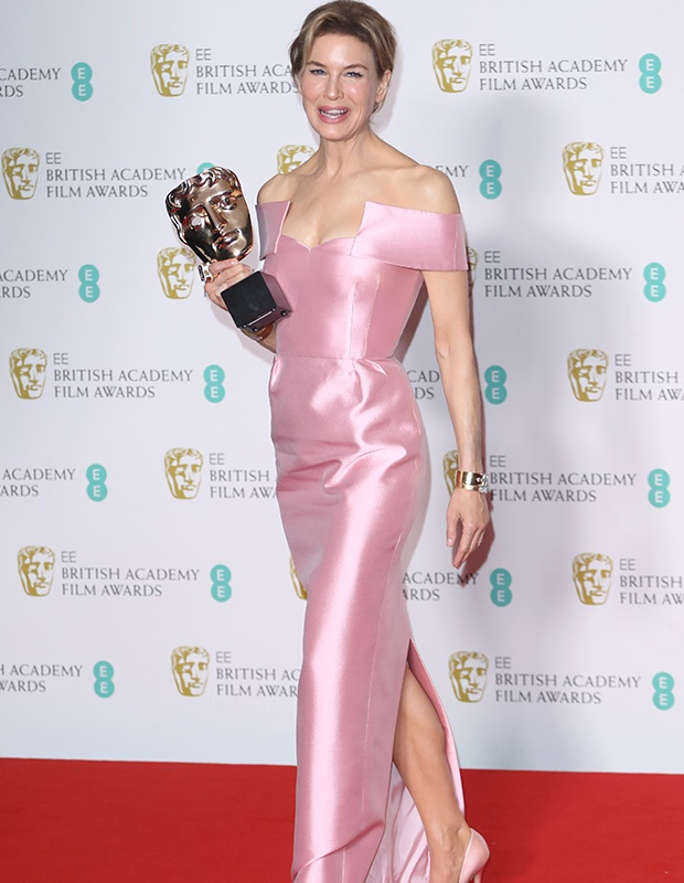 Renée Zellweger at the Baftas.