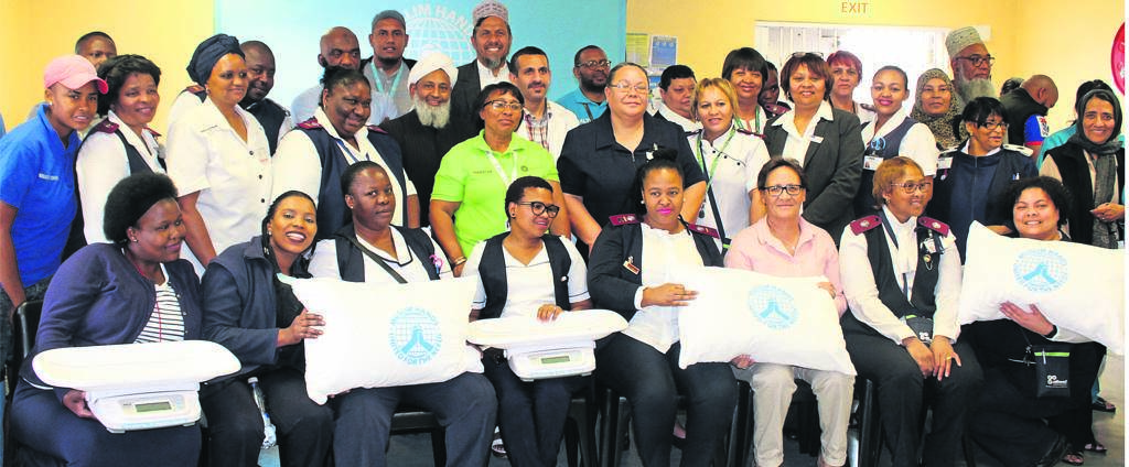 The Retreat Community Health Centre's Midwife Obstetrics Unit, ward councillors and Muslim Hands gathered for the donation of much-needed items for the maternity ward. PHOTOS: Racine Edwardes