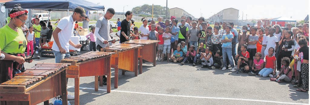 Sports Blitz Day in Hanover Park was not just about sport as there was a marimba band called Ned Doman Marimba Band from Athlone that was entertaining the attendees.PHOTO: siphesihle notwabaza