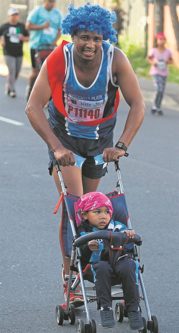 Father and son Daniel and Zeke Adonis competing in the ARD 3-Vlei race on Sunday 6 October.PHOTO: Rashied Isaacs