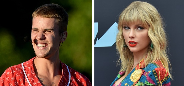 Justin Bieber and Taylor Swift (Photo: Getty Images)