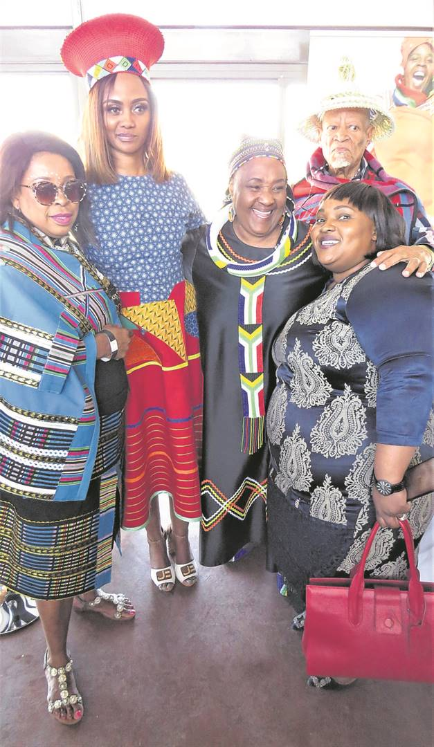 """Socialites and dignitaries of the Free State government gathered at The Edge Restaurant on Naval Hill in Bloemfontein to launch this year's Mangaung African Cultural Festival (Macufe) on Friday (04/10). From the left are Nombulelo Mapena (deputy speaker of the Free State legislature), Limakatso Mahasa (MEC for Sport, Arts, Culture and Recreation), Sisi Ntombela (Premier), Ralegae """"Coostah"""" Kitsa and Nolwazi Nkeane. The festival ends on Saturday (12/10).Photo: Teboho Setena"""