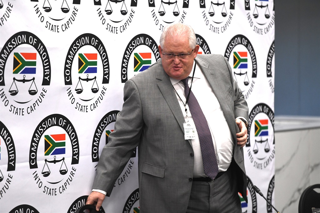 Former Bosasa COO Angelo Agrizzi at the Zondo commission into state capture. (Gallo Images, Netwerk24, Felix Dlangamandla, file)