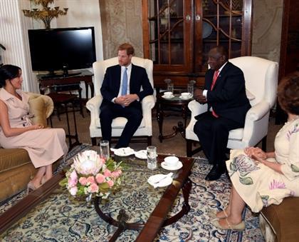 President Cyril Ramaphosa, Dr Tshepo Motsepe, Megh