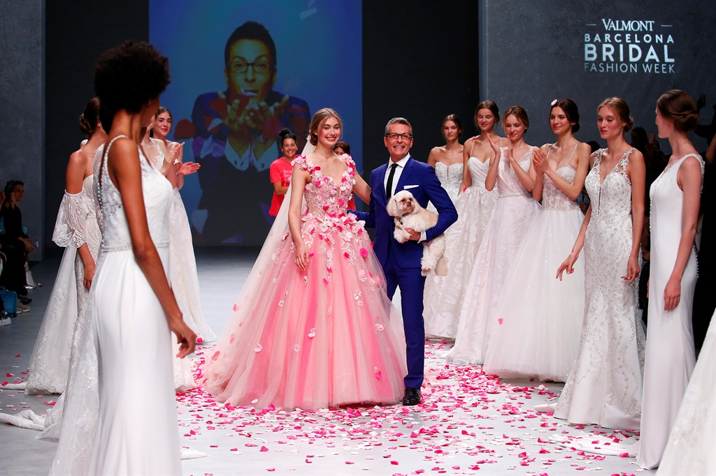 Fashion designer Randy Fenoli on the runway at the Randy Fenoli fashion show during the Valmont Barcelona Bridal Fashion Week at Fira  Barcelona Montjuic on April 26th, 2019 in Barcelona, Spain.  Photo by Estrop/ Getty Images