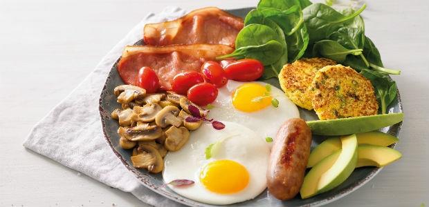 breakfast plate from Mugg & Bean