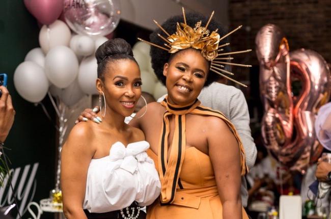 Zahara and musician Nhlanhla Nciza at her birthday celebration.