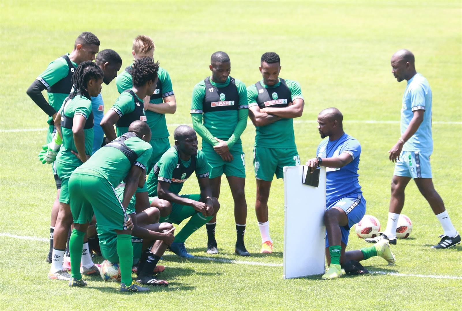 Ayanda Dlamini during the AmaZulu FC training session at King Zwelithini Stadium on October 22 in DurbanPicture: Anesh Debiky / Gallo Images