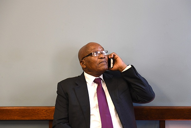 Jacob Zuma is seen at the Johannesburg Commercial
