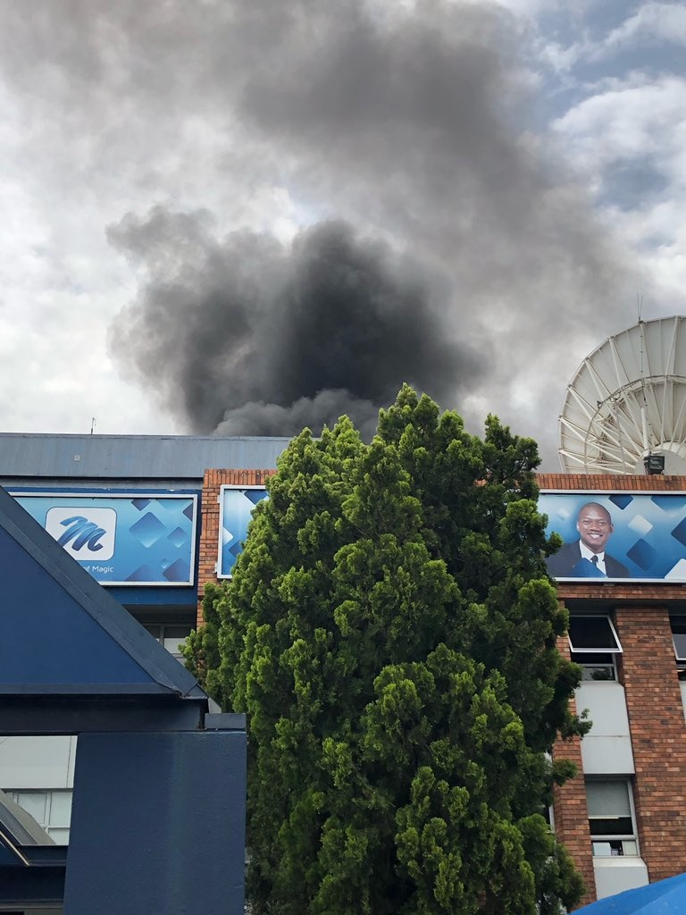WATCH | MultiChoice building in Joburg evacuated after fire breaks out